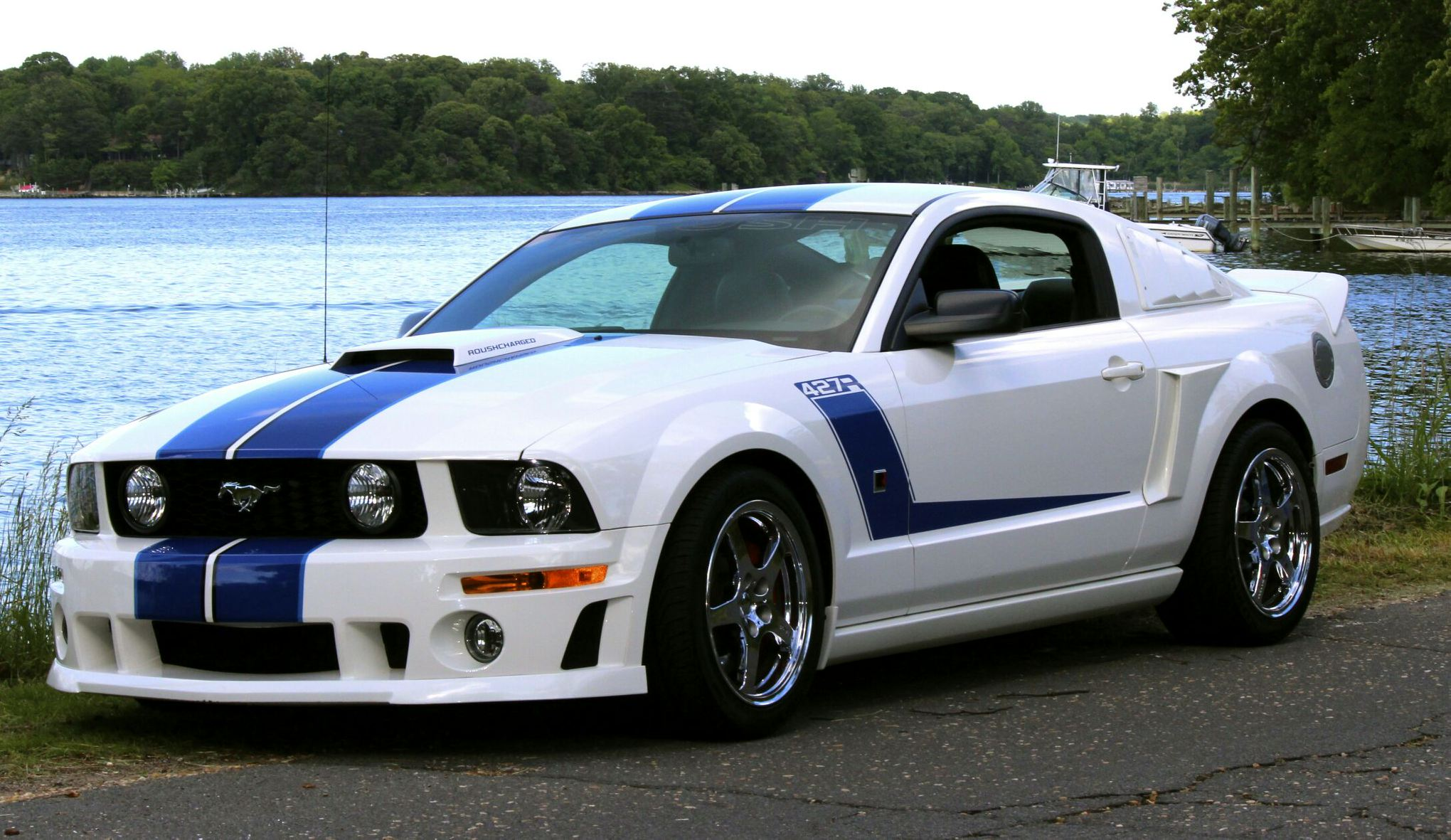 roush 427r 2007 supercharged mustang ford 5th mileage low gen fs svtperformance mustangcarplace cars